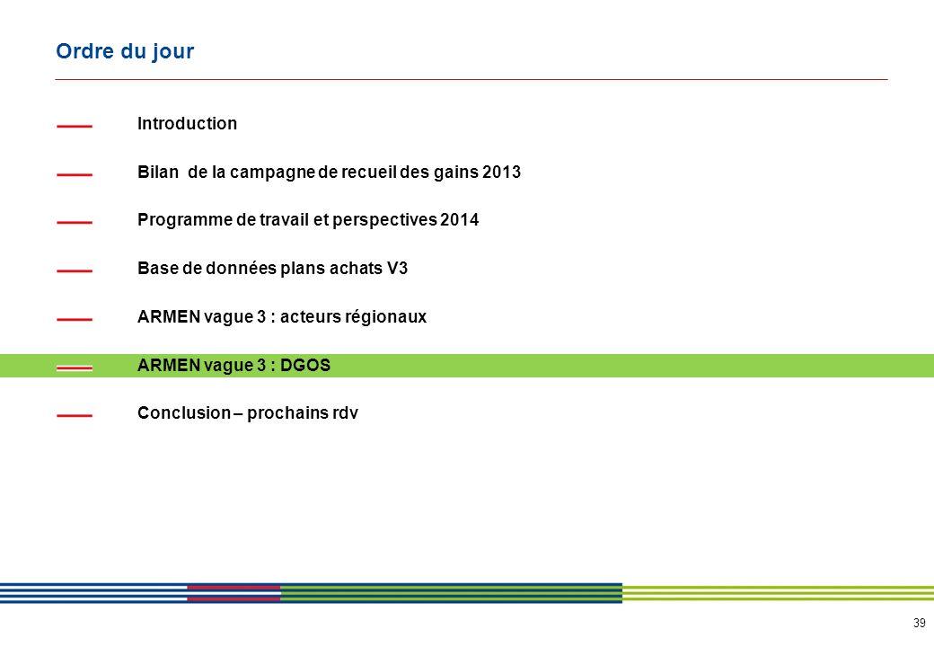 ARMEN vague 3 Simplification du processus achats NORD