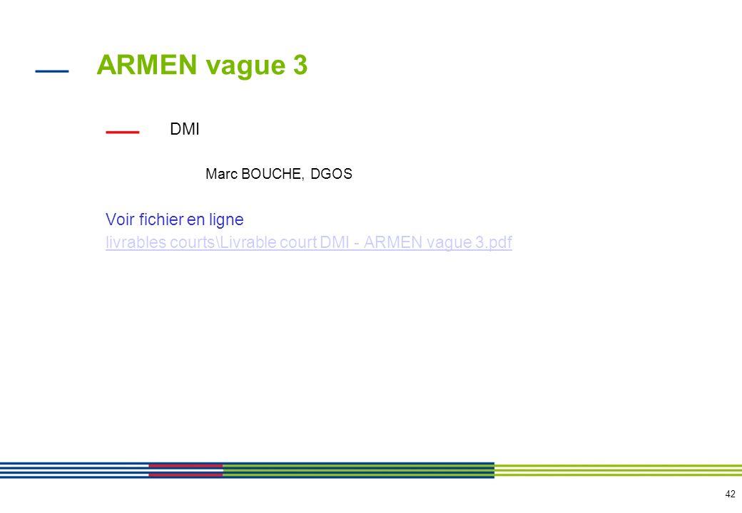 ARMEN vague 3 Equipements de consultations Voir fichier en ligne