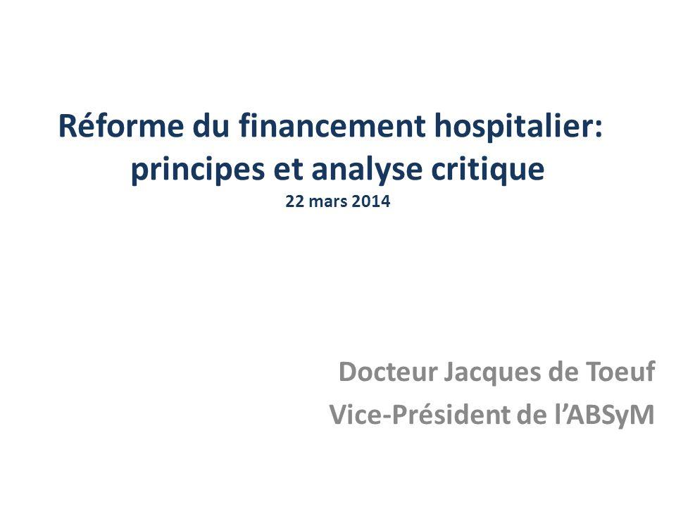 Docteur Jacques de Toeuf Vice-Président de l'ABSyM
