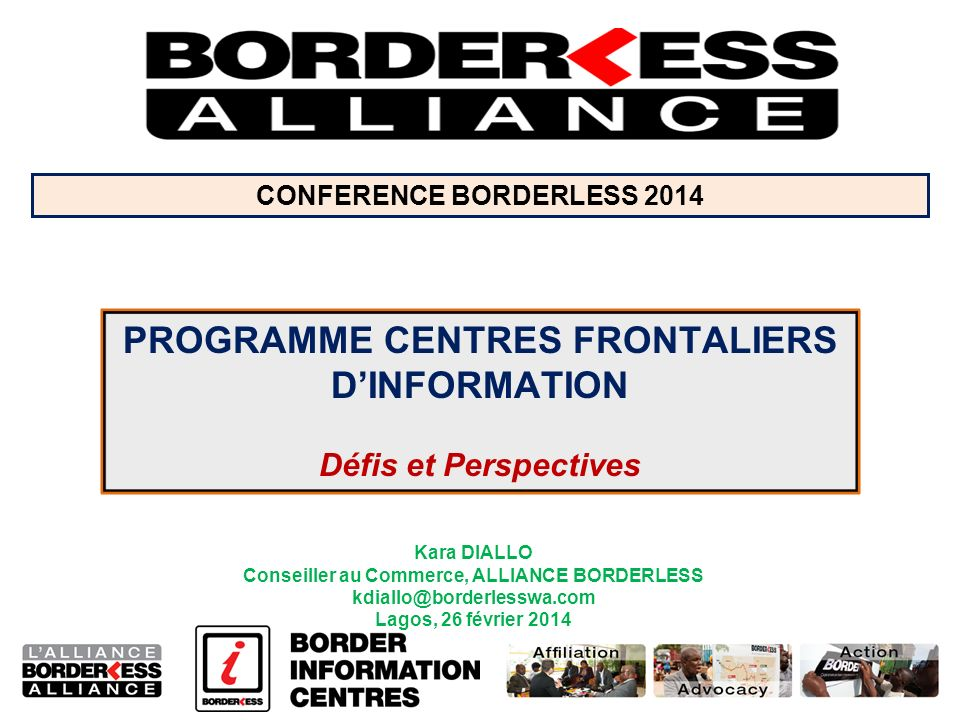 PROGRAMME CENTRES FRONTALIERS D'INFORMATION