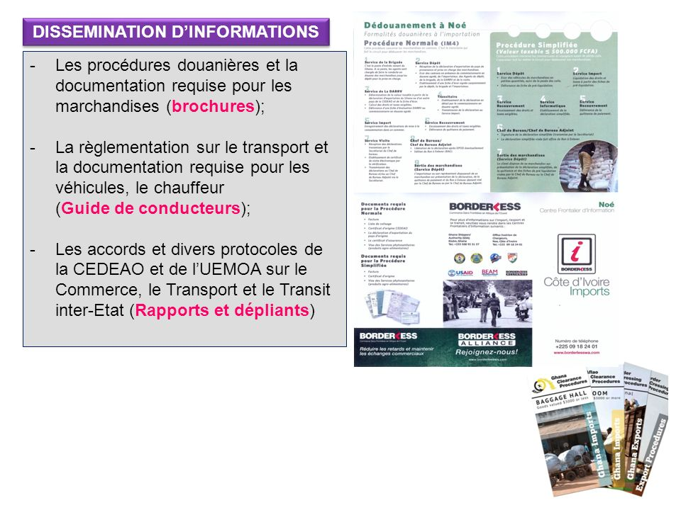 DISSEMINATION D'INFORMATIONS