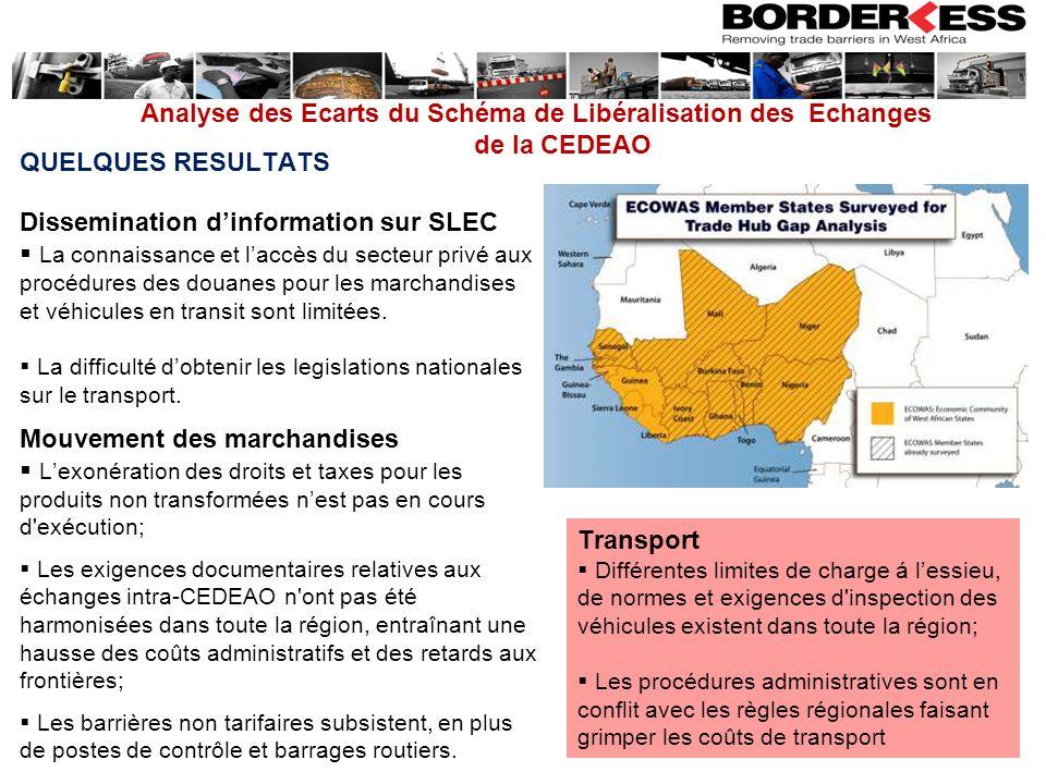 Dissemination d'information sur SLEC