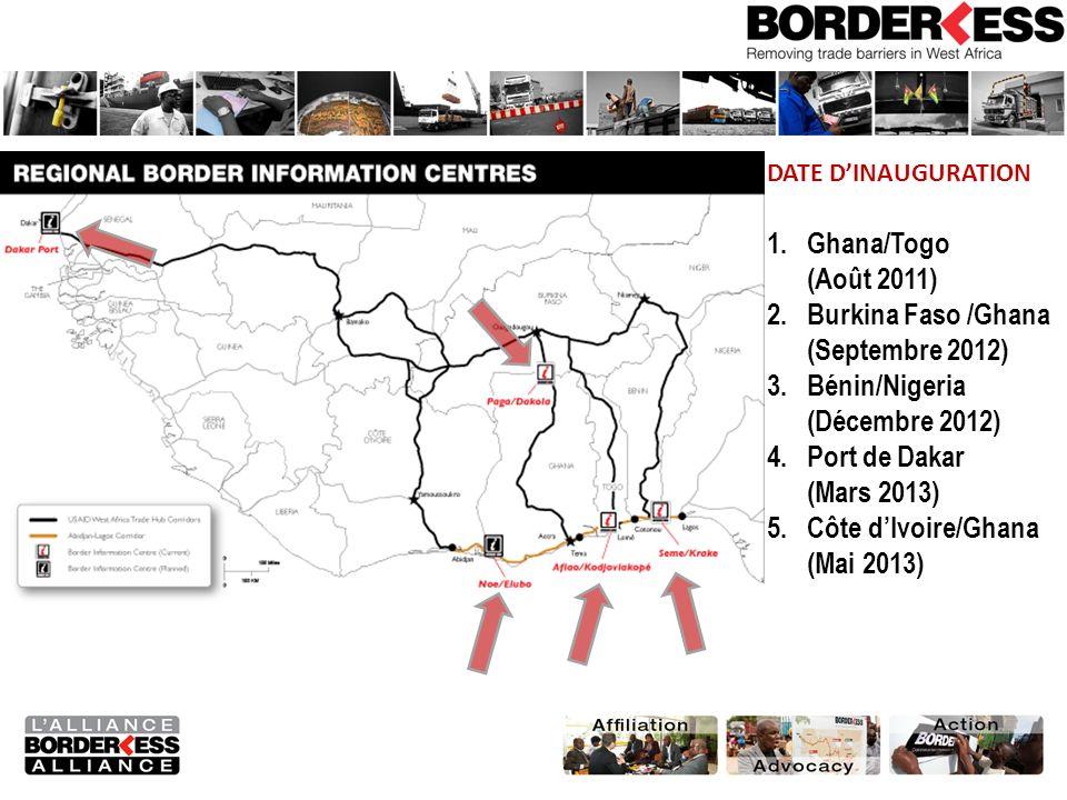 Burkina Faso /Ghana (Septembre 2012) Bénin/Nigeria (Décembre 2012)