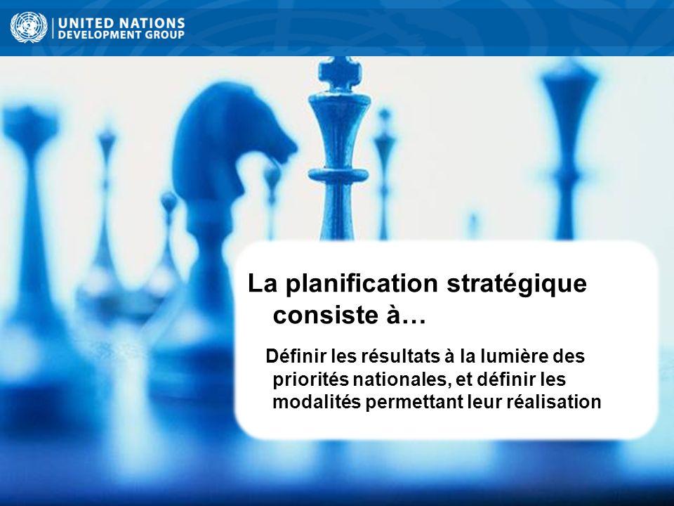 La planification stratégique consiste à…