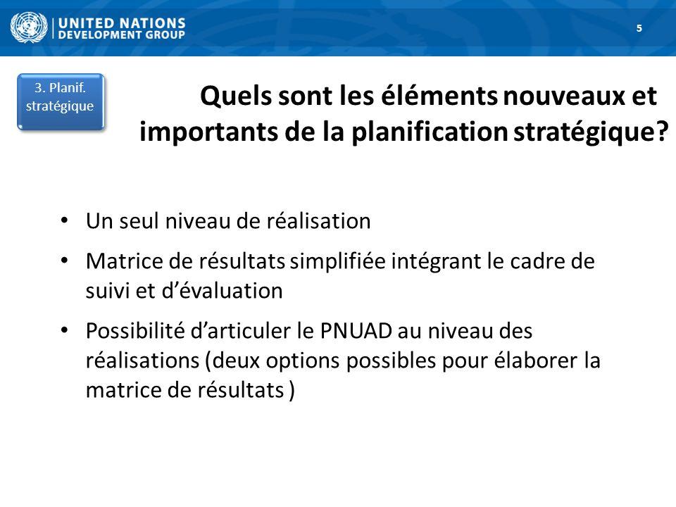 5 3. Planif. stratégique. Quels sont les éléments nouveaux et importants de la planification stratégique