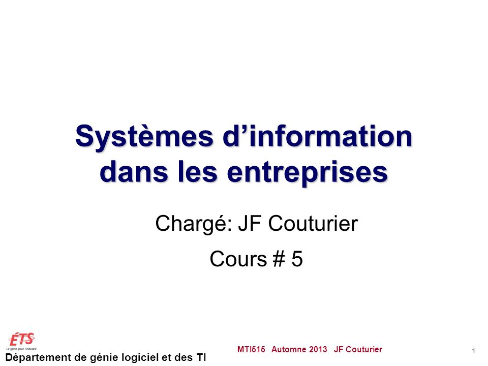 Systèmes d'information dans les entreprises