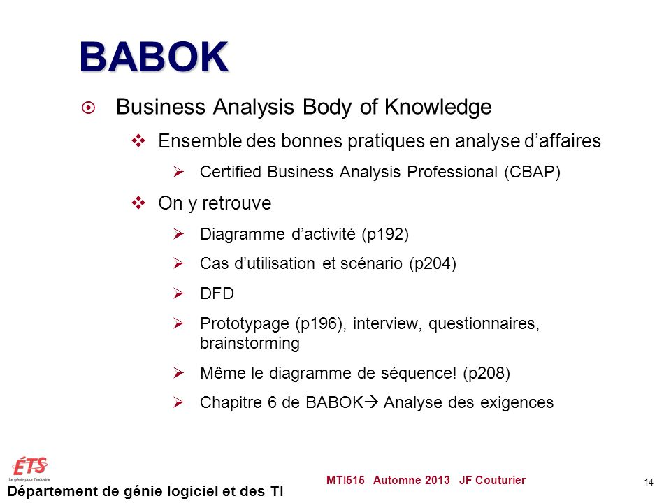 BABOK Business Analysis Body of Knowledge