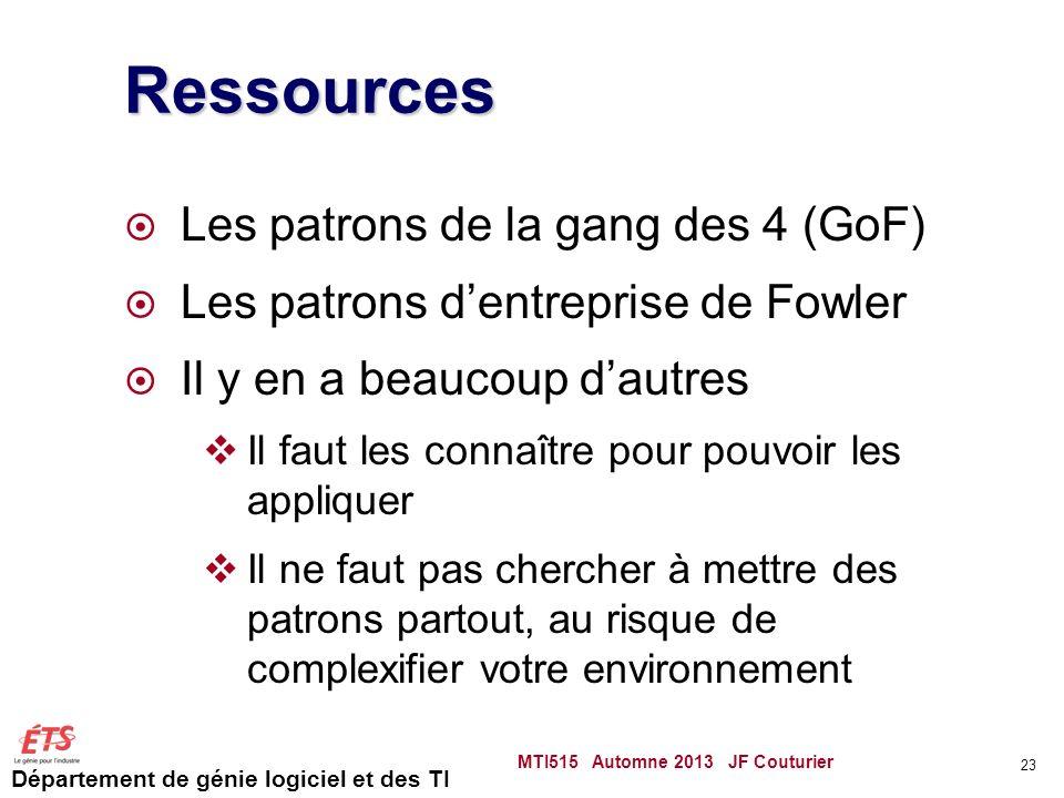 Ressources Les patrons de la gang des 4 (GoF)