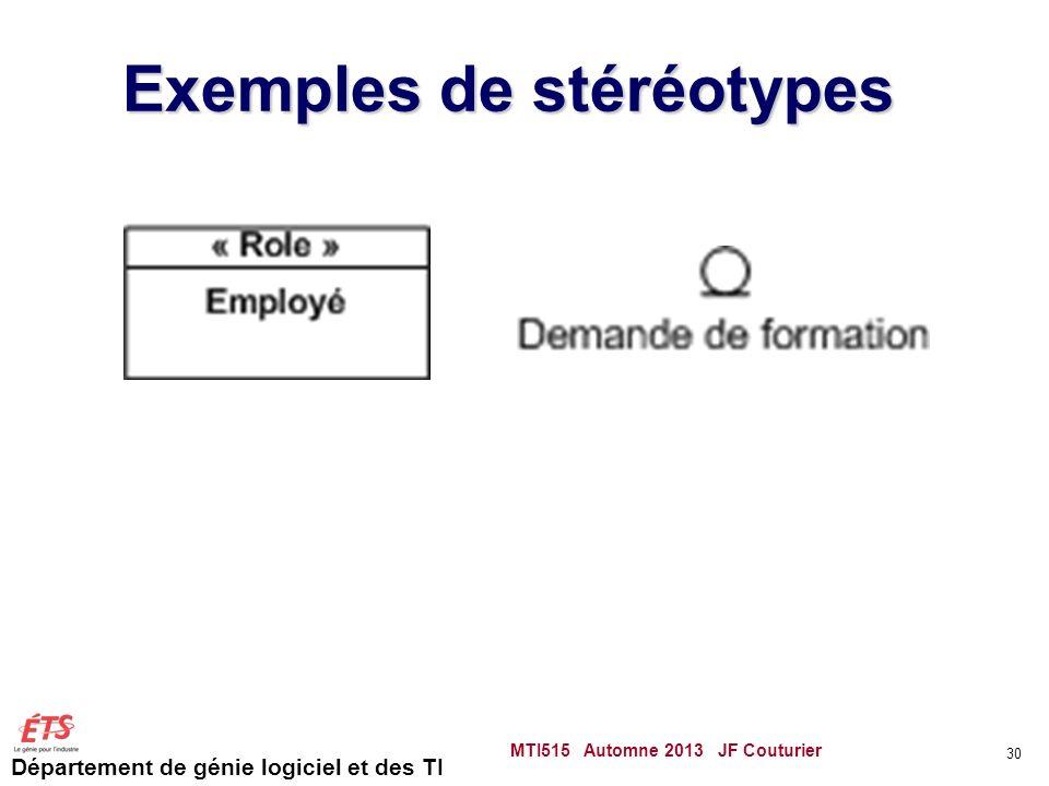 Exemples de stéréotypes