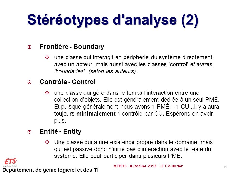 Stéréotypes d analyse (2)