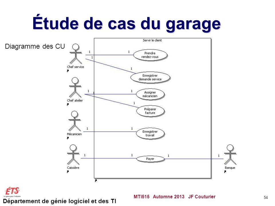 Étude de cas du garage Diagramme des CU