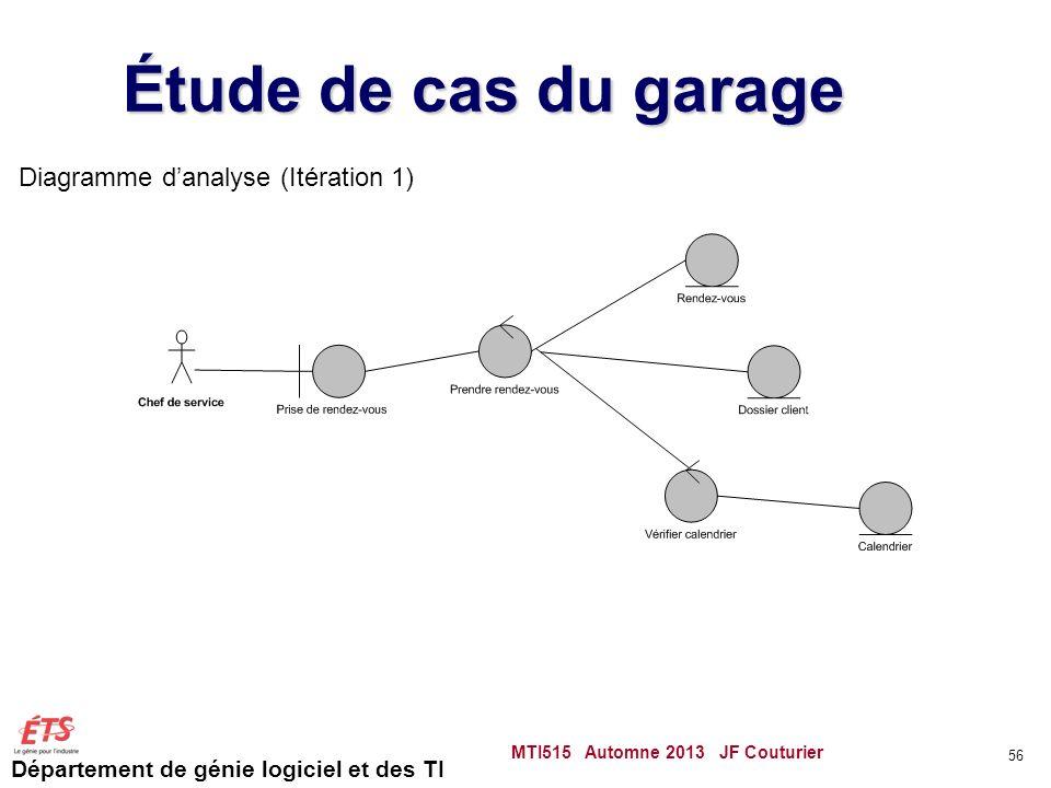 Étude de cas du garage Diagramme d'analyse (Itération 1)