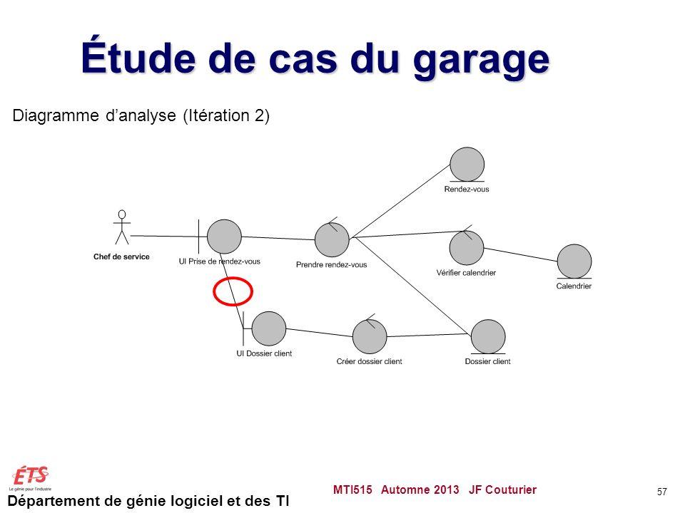 Étude de cas du garage Diagramme d'analyse (Itération 2)