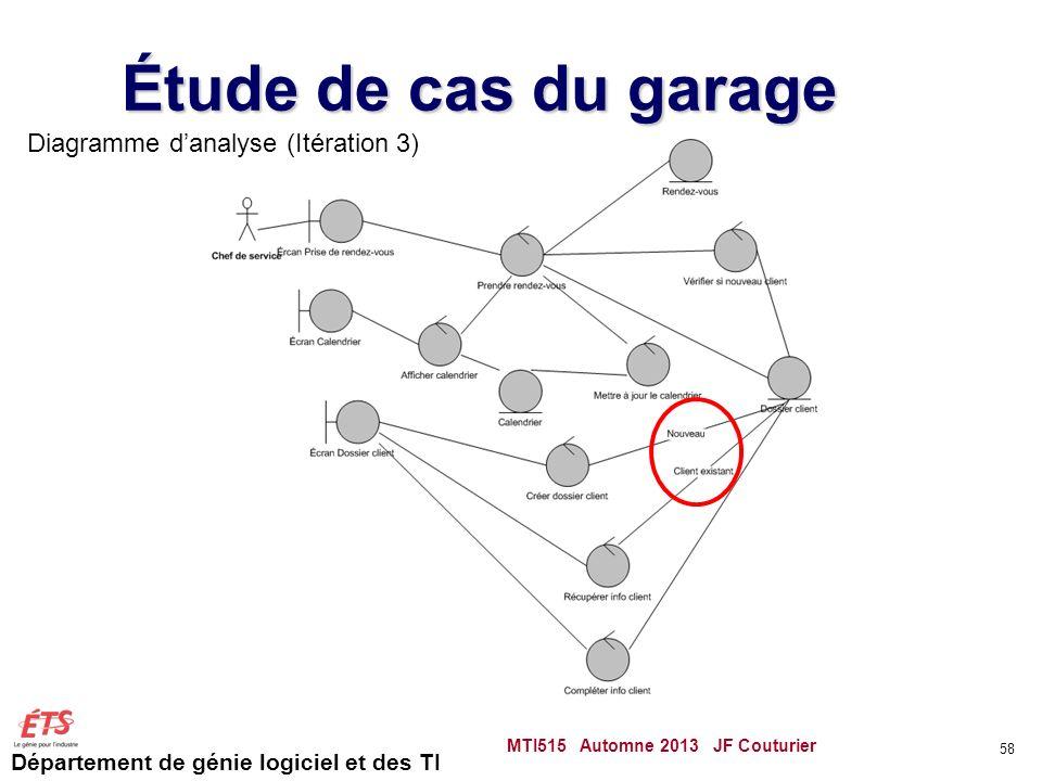 Étude de cas du garage Diagramme d'analyse (Itération 3)