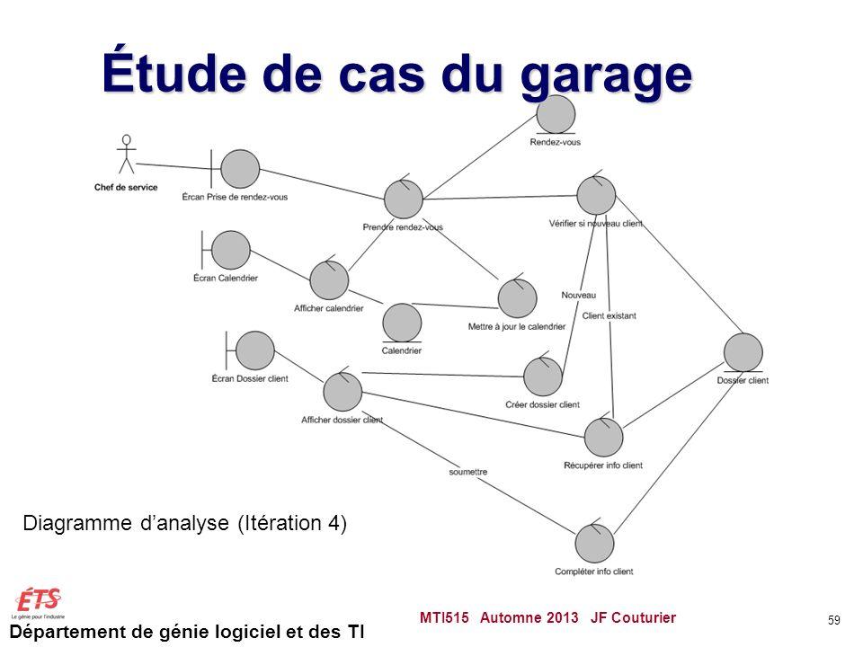 Étude de cas du garage Diagramme d'analyse (Itération 4)