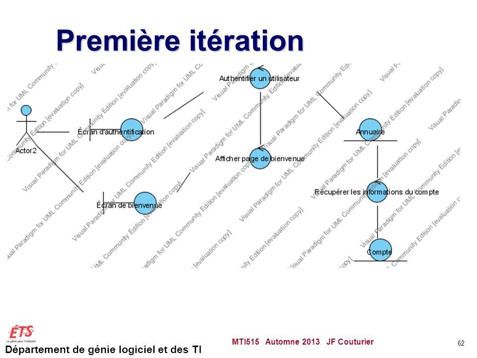 Première itération MTI515 Automne 2013 JF Couturier