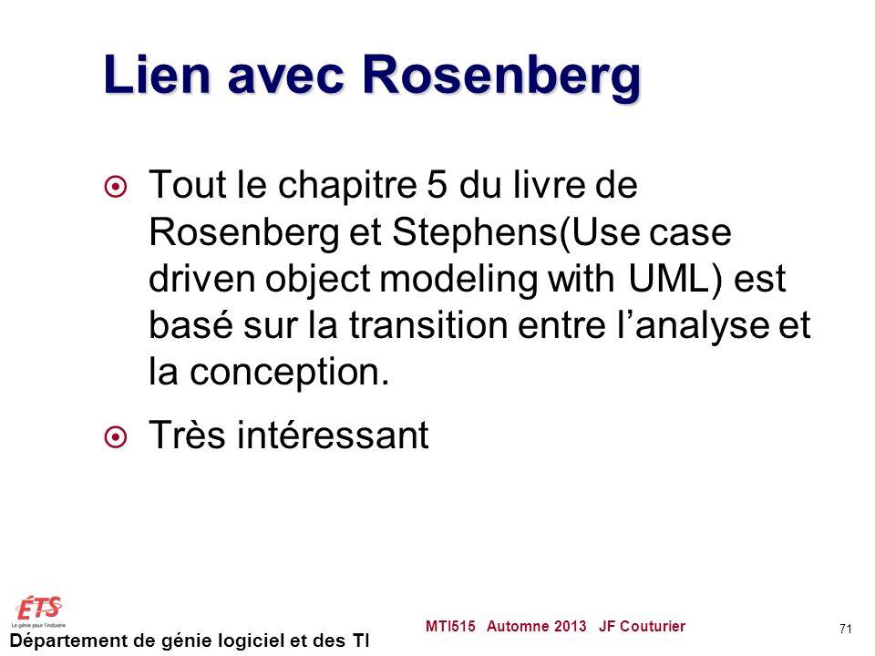 Lien avec Rosenberg