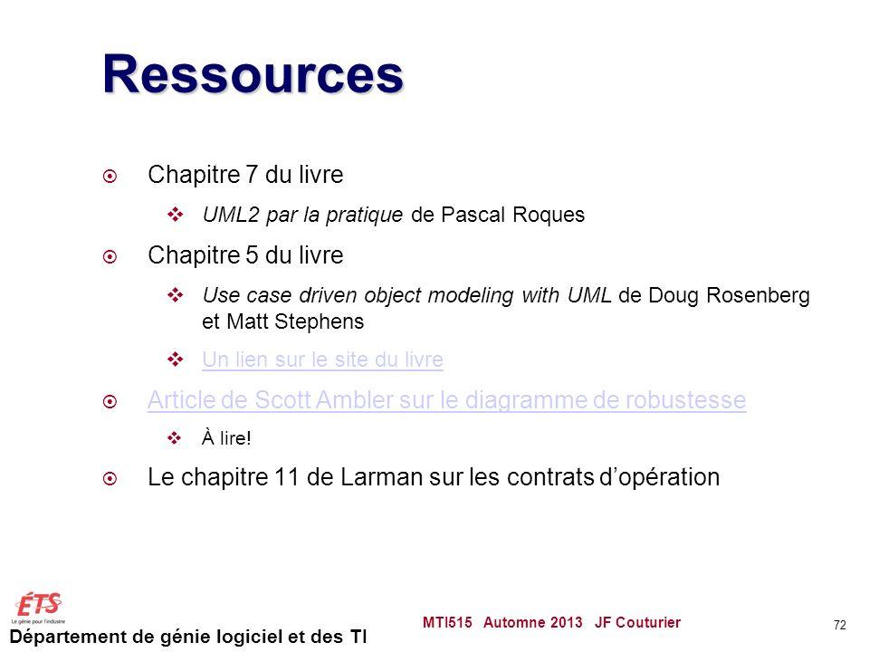 Ressources Chapitre 7 du livre Chapitre 5 du livre