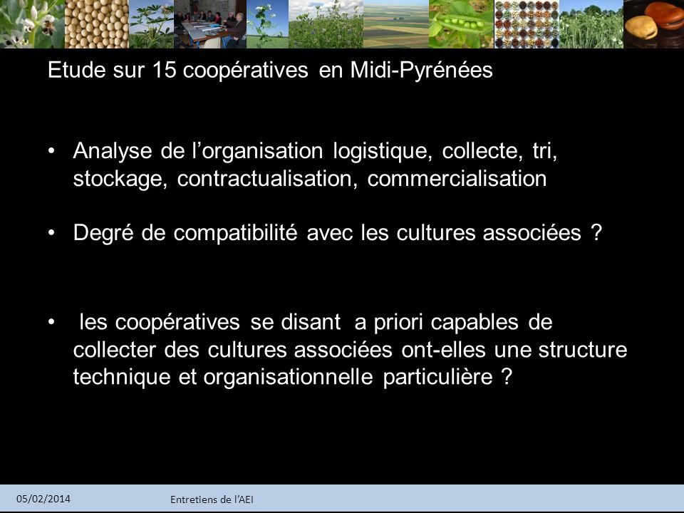 Etude sur 15 coopératives en Midi-Pyrénées