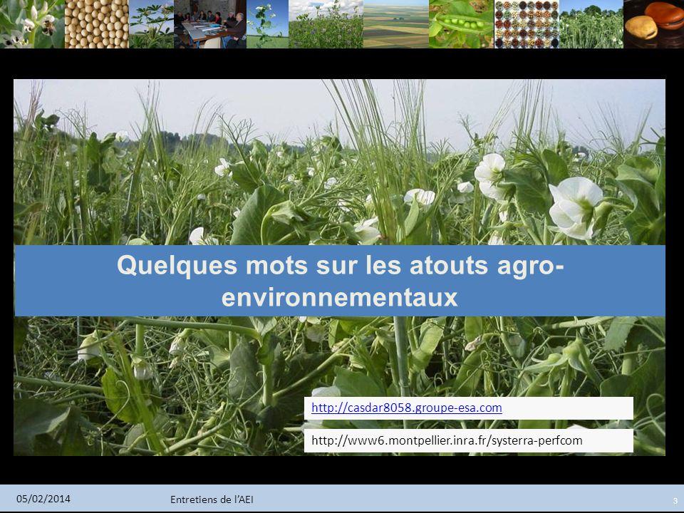 Quelques mots sur les atouts agro-environnementaux