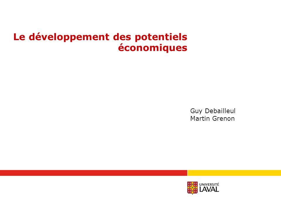 Le développement des potentiels économiques