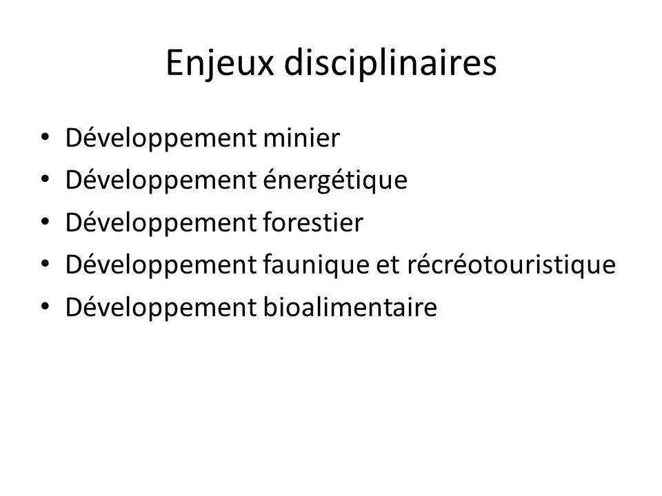 Enjeux disciplinaires
