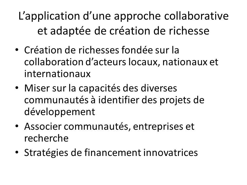 L'application d'une approche collaborative et adaptée de création de richesse