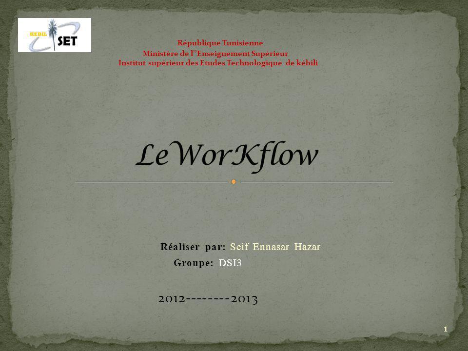 Réaliser par: Seif Ennasar Hazar Groupe: DSI3 2012--------2013
