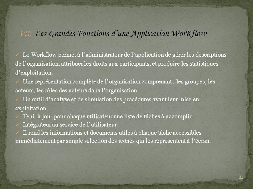 Les Grandes Fonctions d'une Application WorKflow