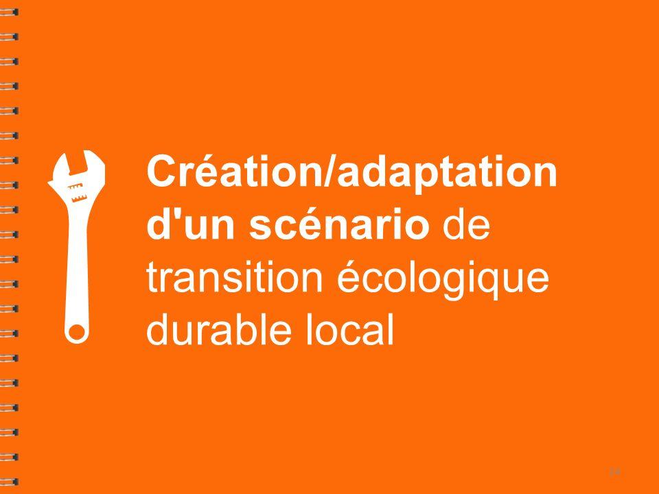 Création/adaptation d un scénario de transition écologique durable local
