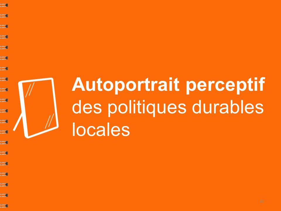 Autoportrait perceptif des politiques durables locales