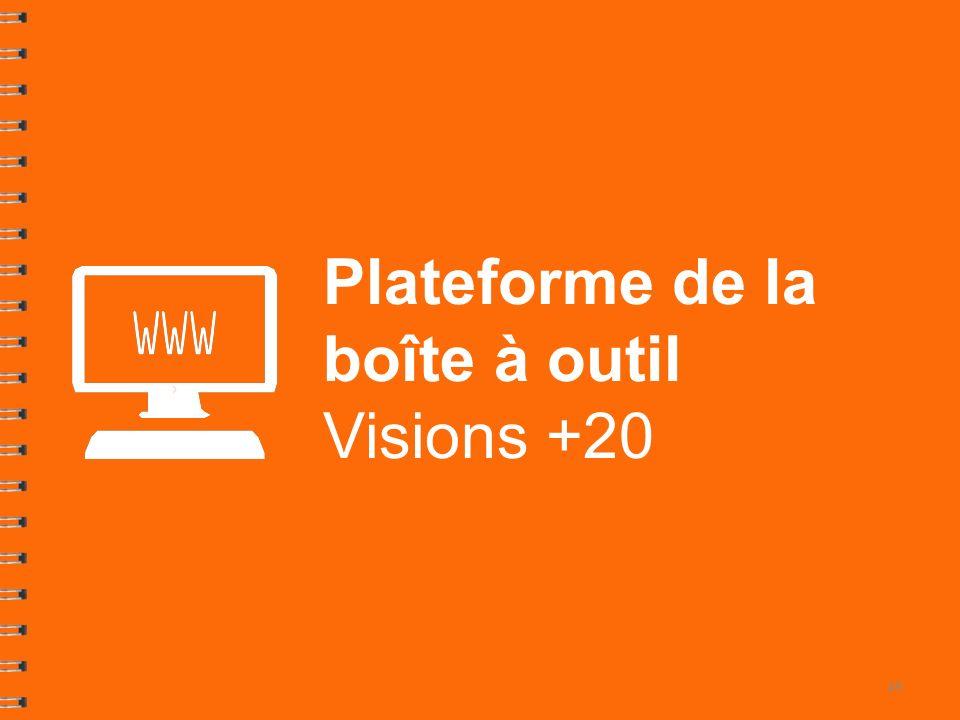 Plateforme de la boîte à outil Visions +20