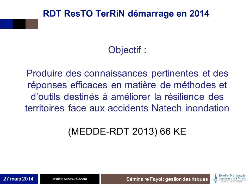 RDT ResTO TerRiN démarrage en 2014