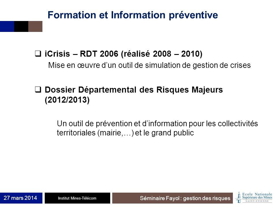Formation et Information préventive