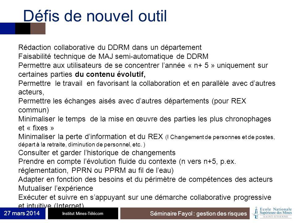 Défis de nouvel outil Rédaction collaborative du DDRM dans un département. Faisabilité technique de MAJ semi-automatique de DDRM.