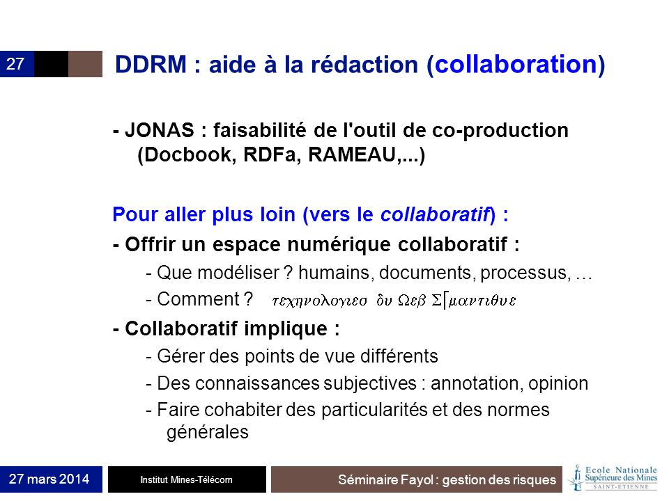 DDRM : aide à la rédaction (collaboration)