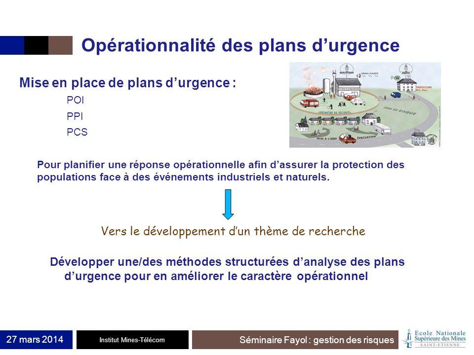 Opérationnalité des plans d'urgence