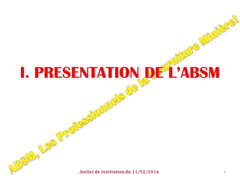 I. PRESENTATION DE L'ABSM