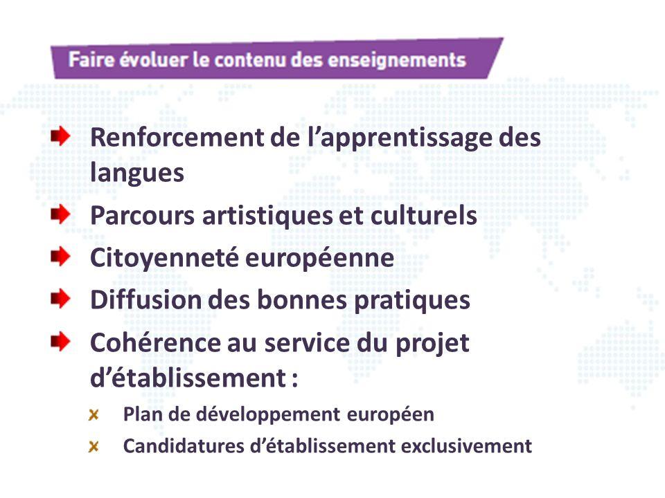 Renforcement de l'apprentissage des langues