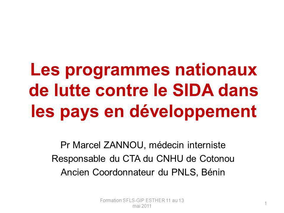 Les programmes nationaux de lutte contre le SIDA dans les pays en développement