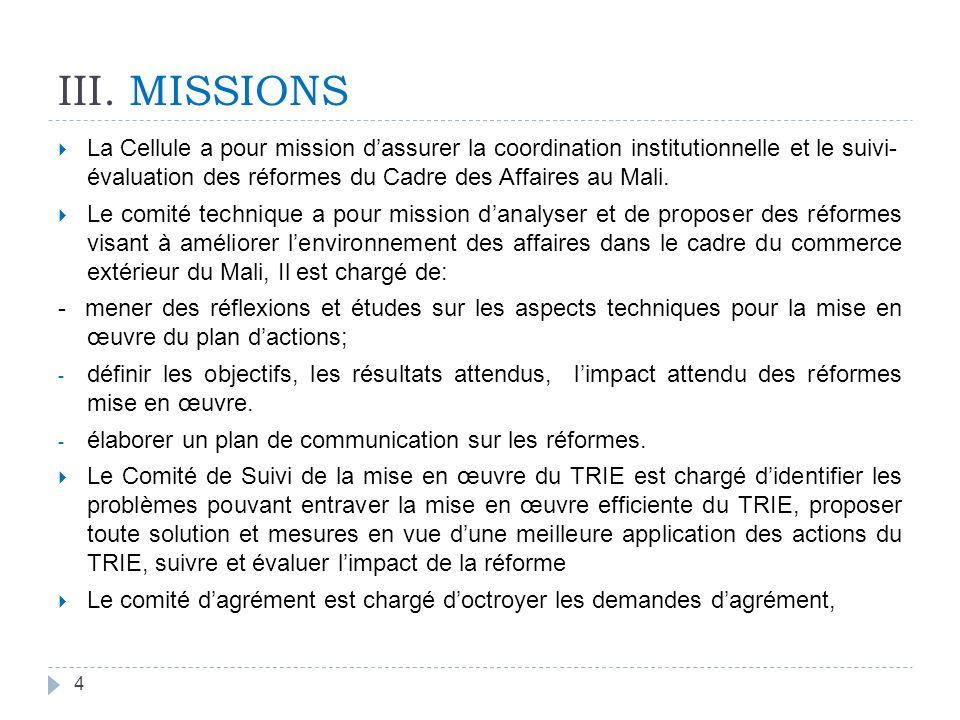 IV. Dispositifs règlementaires complémentaires de mise en œuvre de la convention TRIE-CEDEAO entre la République du Mali et la République du Sénégal