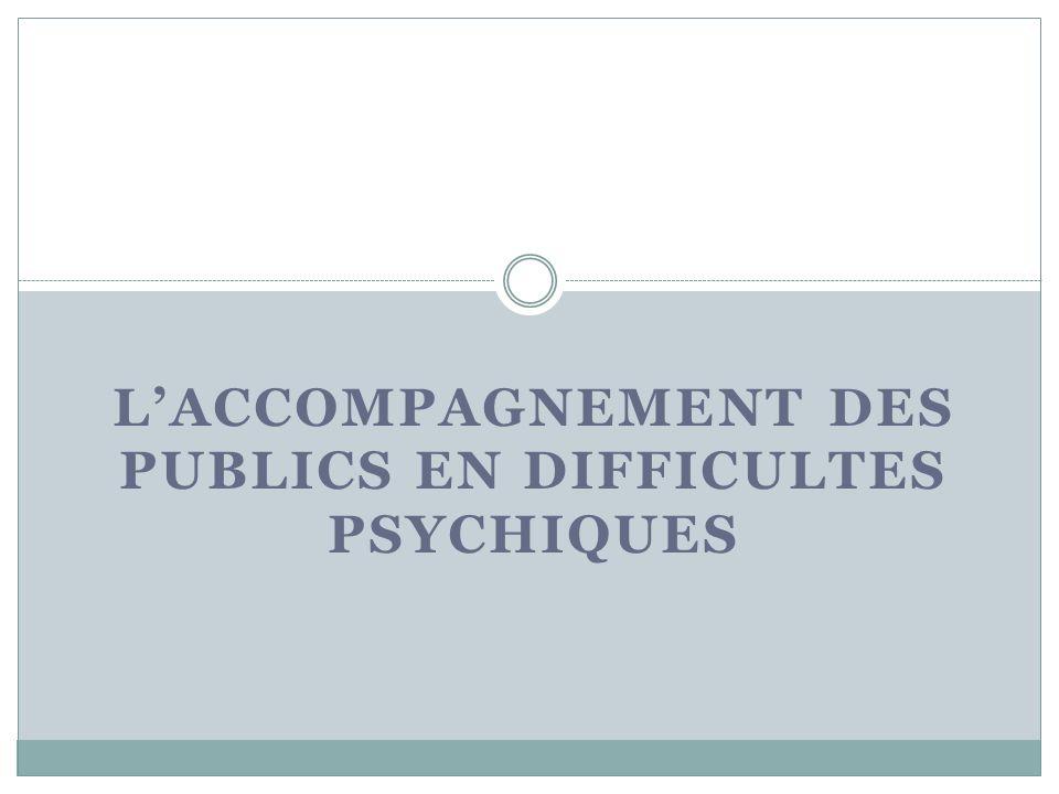 L'Accompagnement des publics EN DIFFICULTES PSYCHIQUES