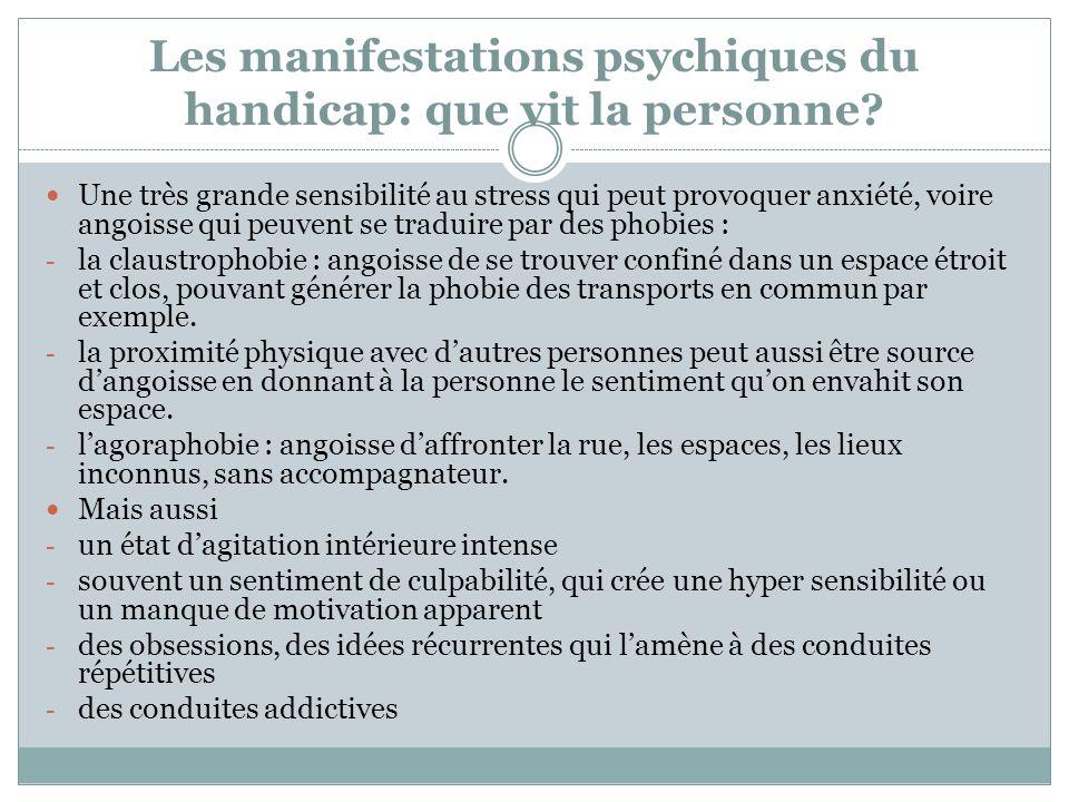 Les manifestations psychiques du handicap: que vit la personne