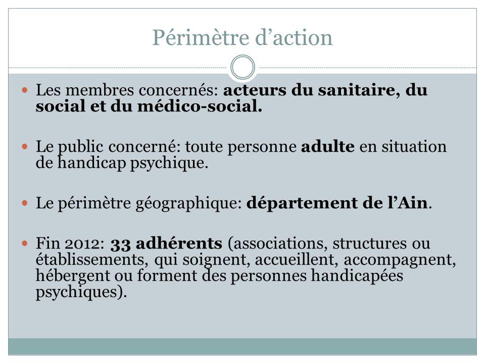 Périmètre d'action Les membres concernés: acteurs du sanitaire, du social et du médico-social.