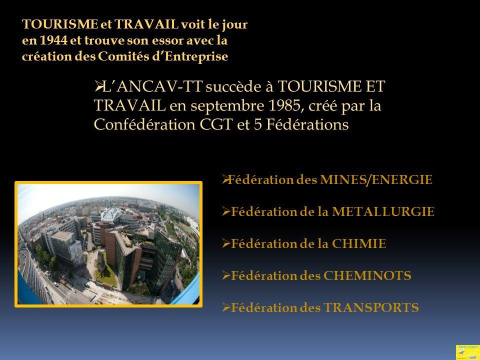 TOURISME et TRAVAIL voit le jour en 1944 et trouve son essor avec la création des Comités d'Entreprise