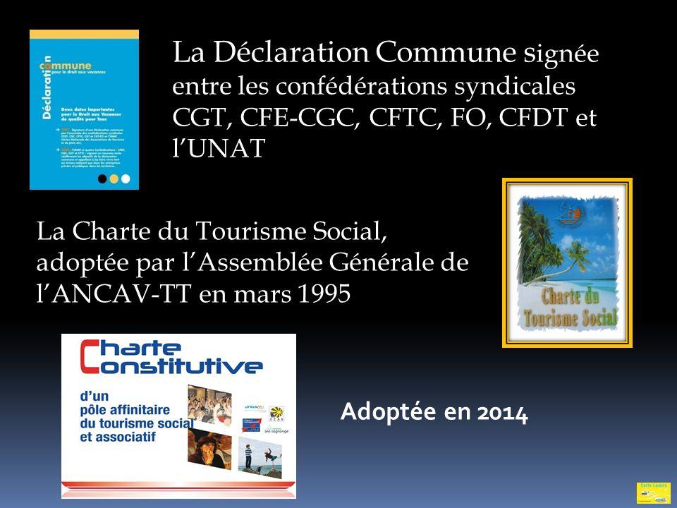 La Déclaration Commune signée entre les confédérations syndicales CGT, CFE-CGC, CFTC, FO, CFDT et l'UNAT