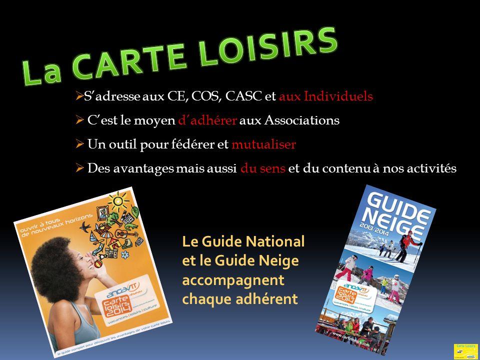 La CARTE LOISIRS S'adresse aux CE, COS, CASC et aux Individuels. C'est le moyen d'adhérer aux Associations.