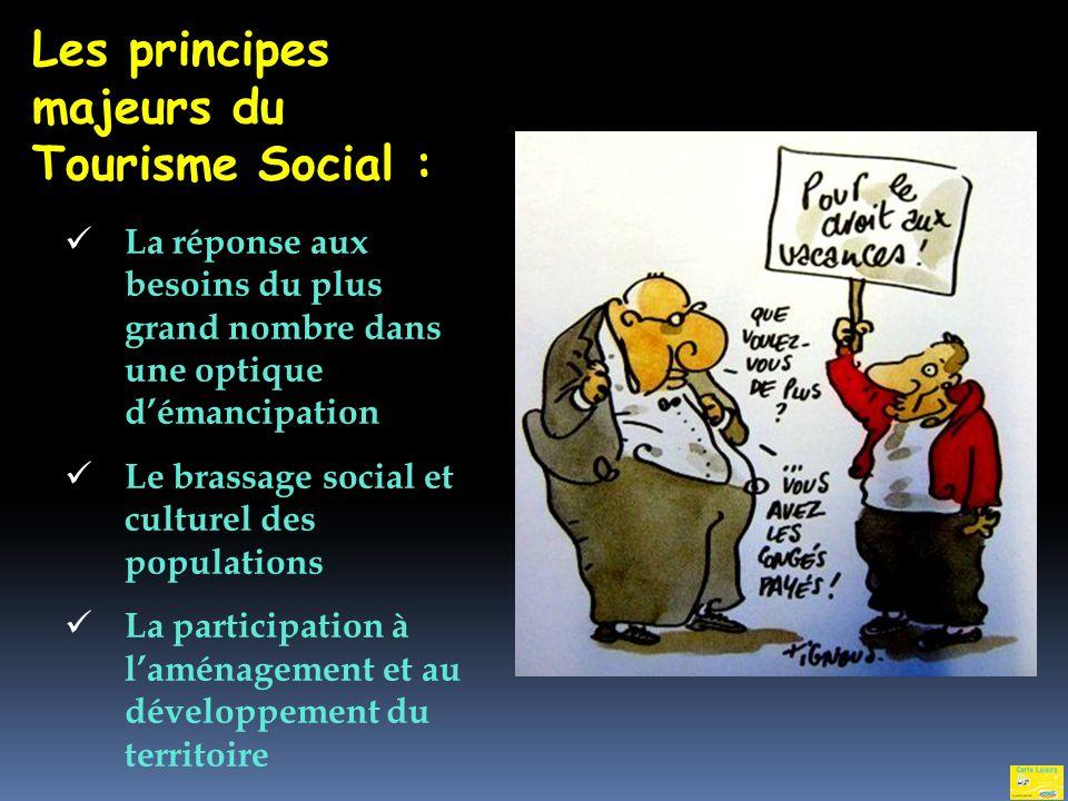 Les principes majeurs du Tourisme Social :