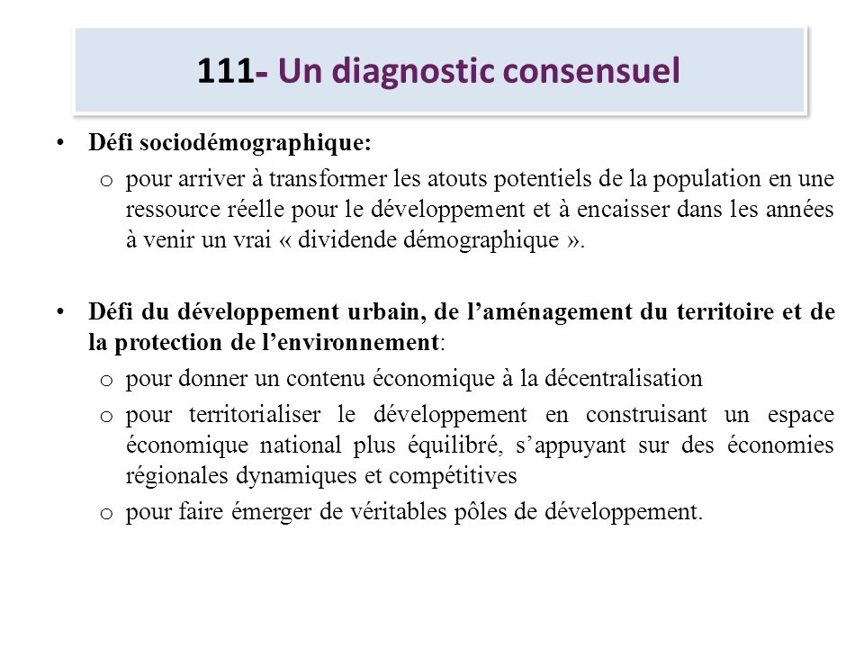 111- Un diagnostic consensuel