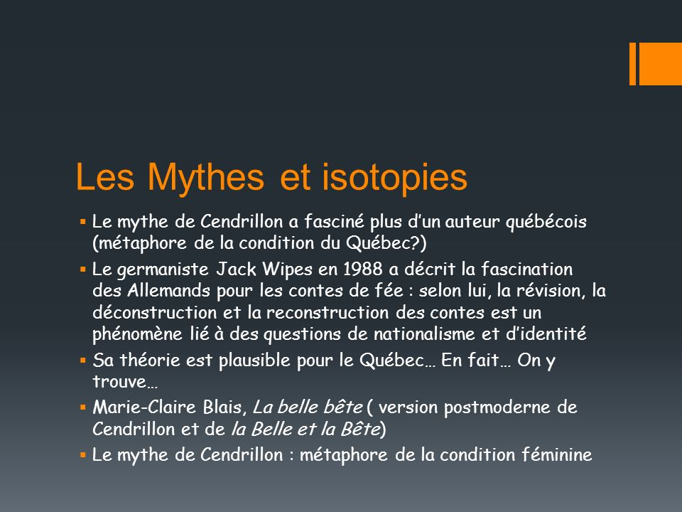 Les Mythes et isotopies